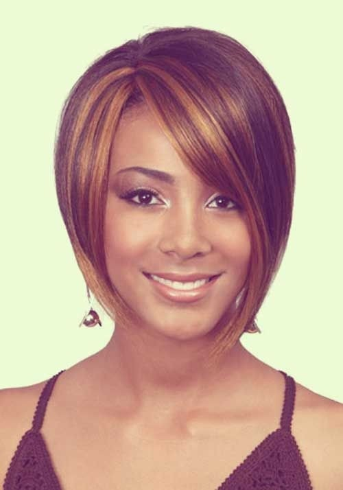 Keri Hilson Short Black Hairstyle With Side Swept Bangs
