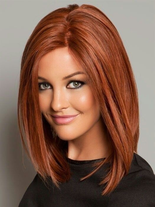 Straight Long Bob Hairstyle with Beautiful Color