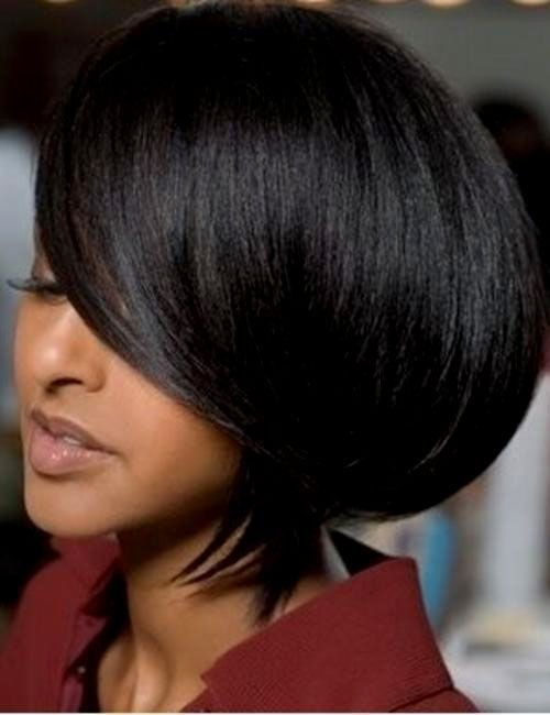 hairstyles bob Women black with