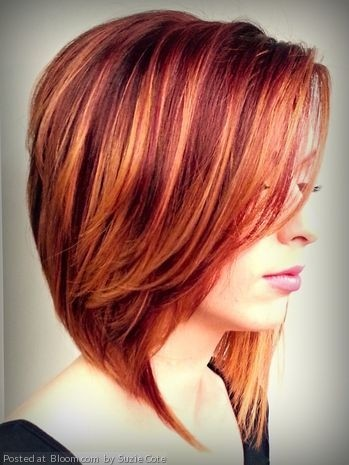 short hairstyles without bangs : ... Fall Hair Color with Diffused Highlights - Short Hair Color Ideas 2015