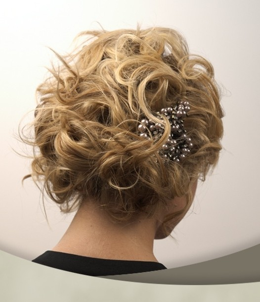 Super Cute Short Hair Updo Messy Wedding Hairstyles