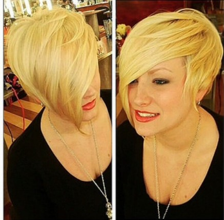 Asymmetric Blonde Short Haircut
