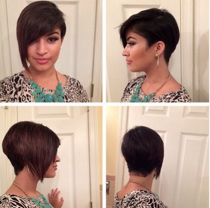 Asymmetric Short Haircut for Bangs