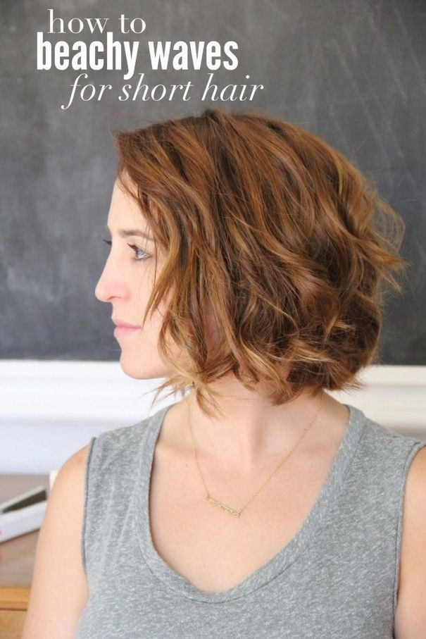 Beach Waves Hairstyle for Short Hair