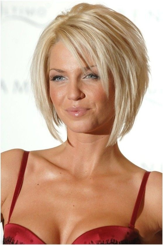 Blonde Layered Bob Hairdos