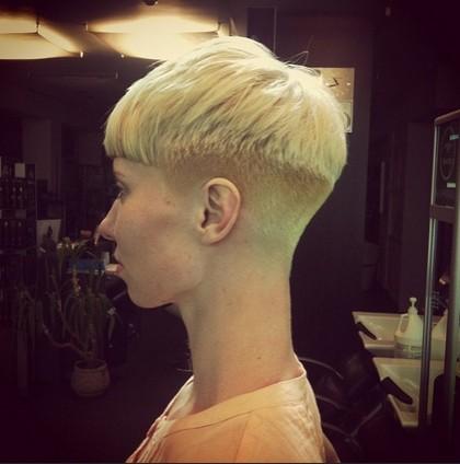 Blonde Short Hair Style