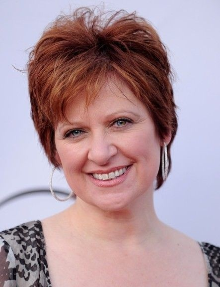 Caroline Manzo Layered Short Hairstyle