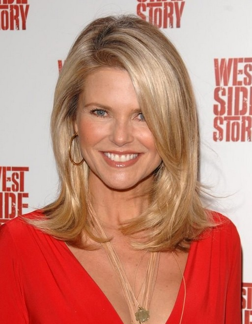 Christie Brinkley Medium Straight Hair Styles