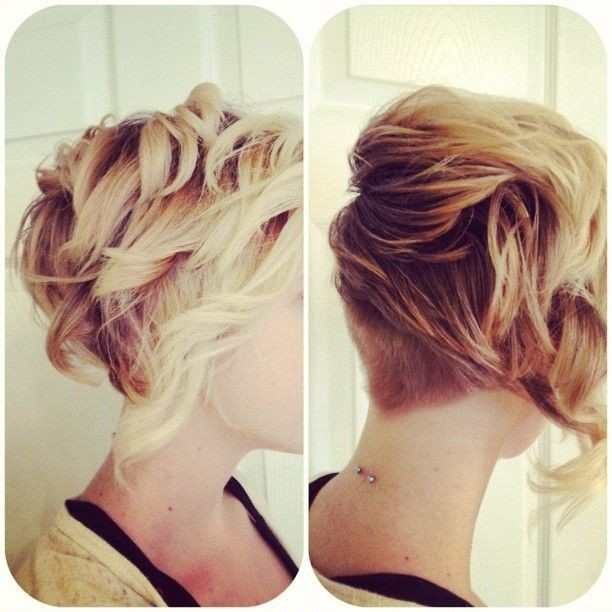 Curls and Texture with An Undercut in the Back - Stylish Short Curly Hairstyles 2015