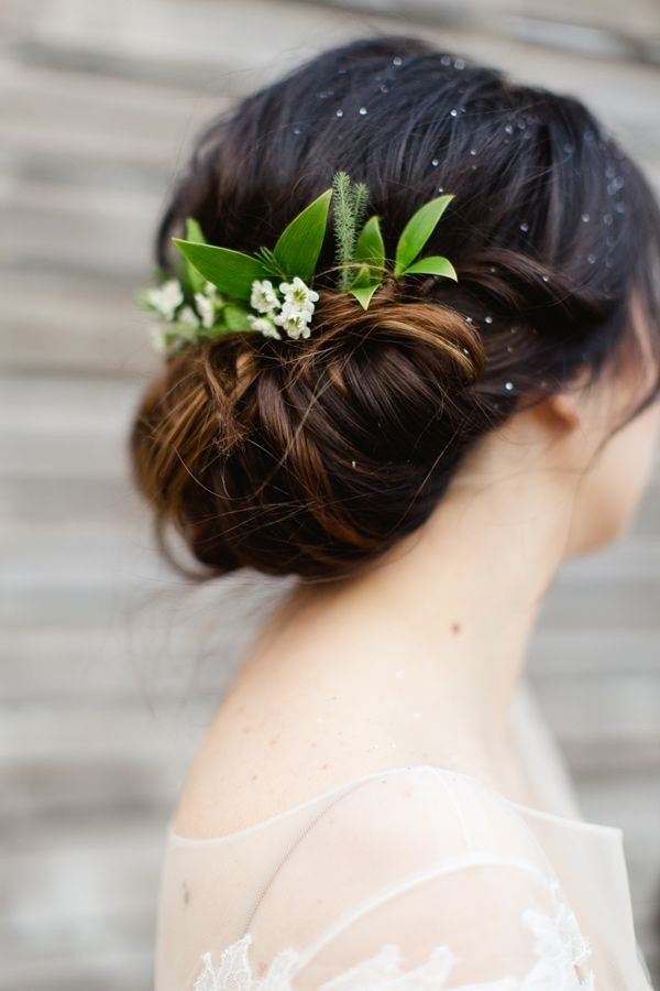 35 wedding hairstyles discover next years top trends for brides elegant flower updo hairstyle wedding updos 2015 pmusecretfo Gallery