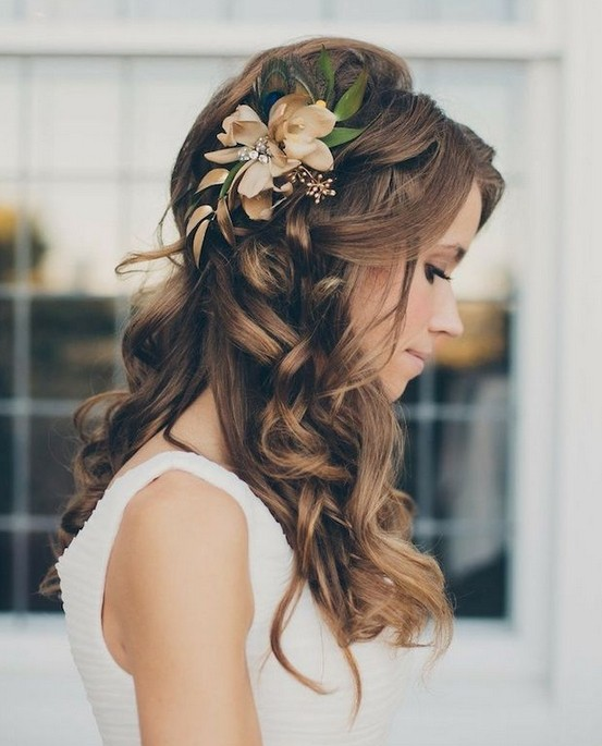 Gorgeous Half Up Down Hairstyles For Wedding Bride Hair Styles 2017