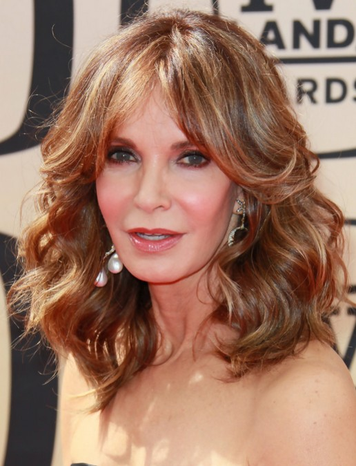 Jaclyn Smith Medium Curly Hair Style - Women Over 50 Haircuts
