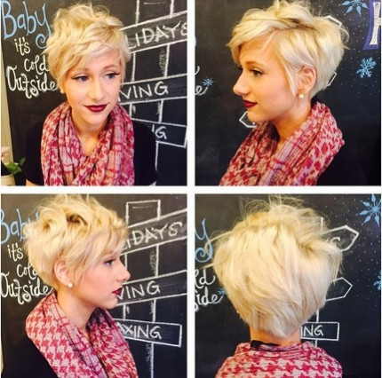 Layered, Messy Short Hairstyles for Blonde Fine Hair