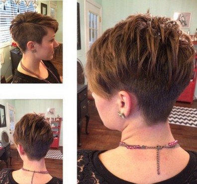 ... Pixie Hair Cut: One Side Shaved Hairstyles for Short Hair / Via