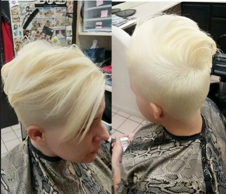 Light Blonde Short Hair Styles