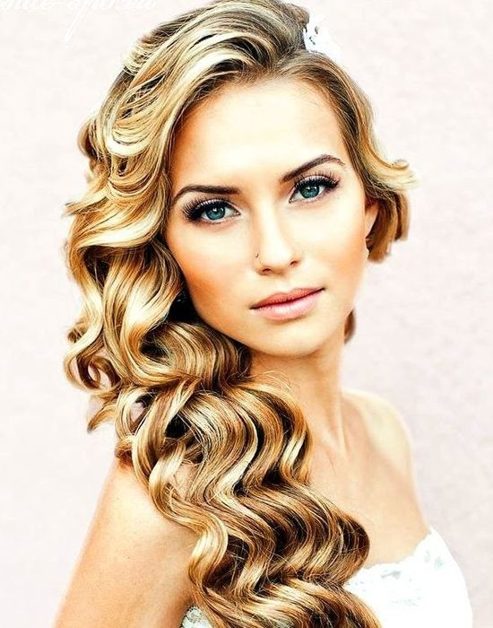 Long Waves Hair for Wedding