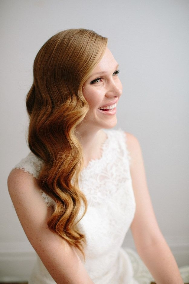 Loose Wavy Hairstyle - Wedding Long Hairstyles Ideas 2015