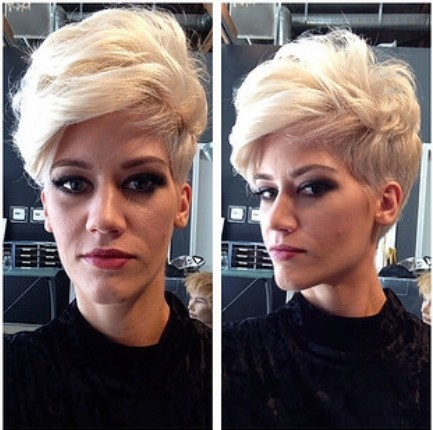 Messy Short Haircut for Long Face Shape