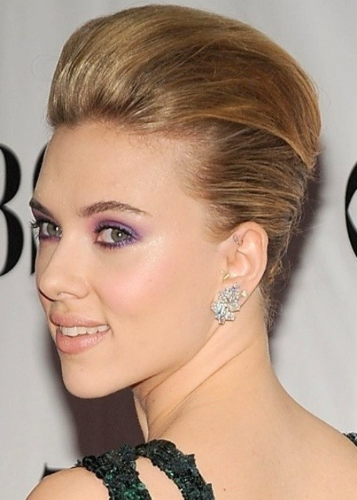 Updo Hairstyles For Short Hair Scarlett Johansson Short Hair Style