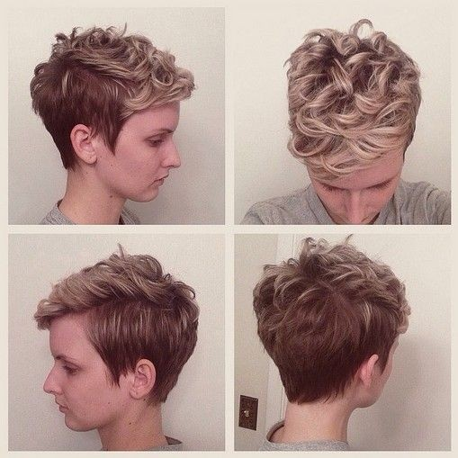 Pixie Haircut with Curly Hair - 2015 Short Hairstyles for Spring and Summer