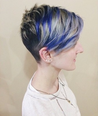 Pretty Blue Color for Short Hair - Stylish Short Hairstyles 2015