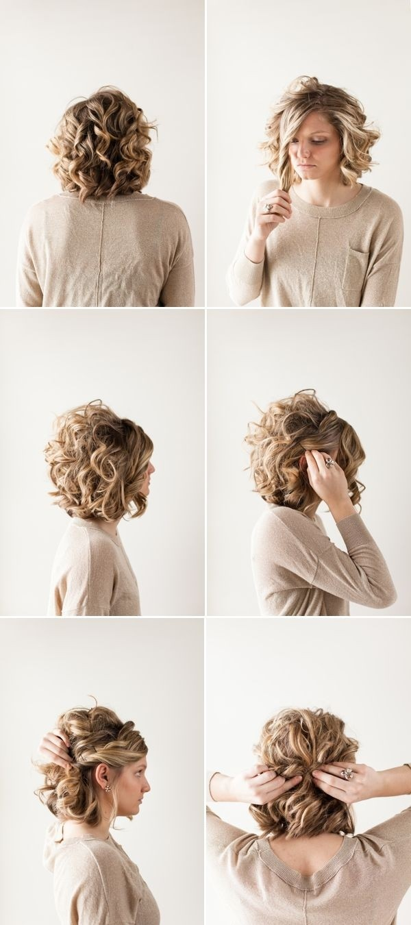 Pretty Updo Hairstyle For Short Curly Hair Prom Ideas