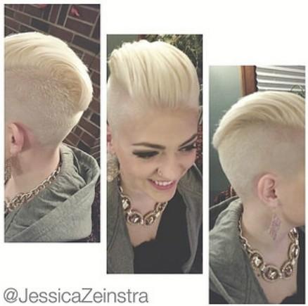 Shaved Short Haircut for Blonde Hair