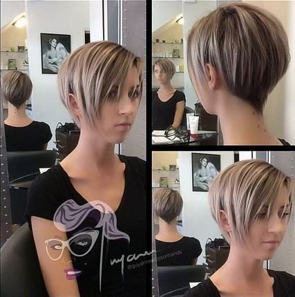 Short Layered Hairstyles for Bangs