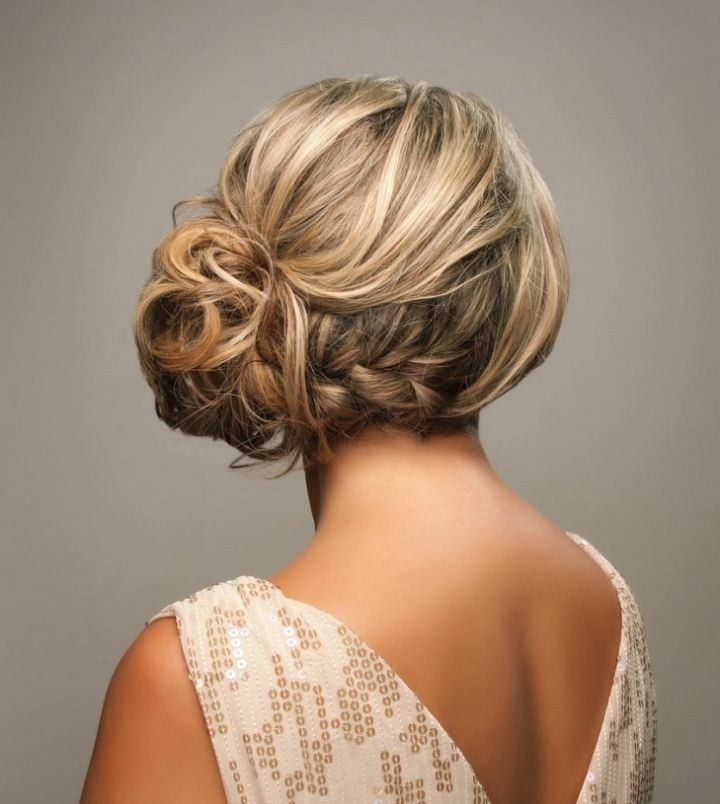 Side Braided Updo Hairstyles Wedding Updos 2017