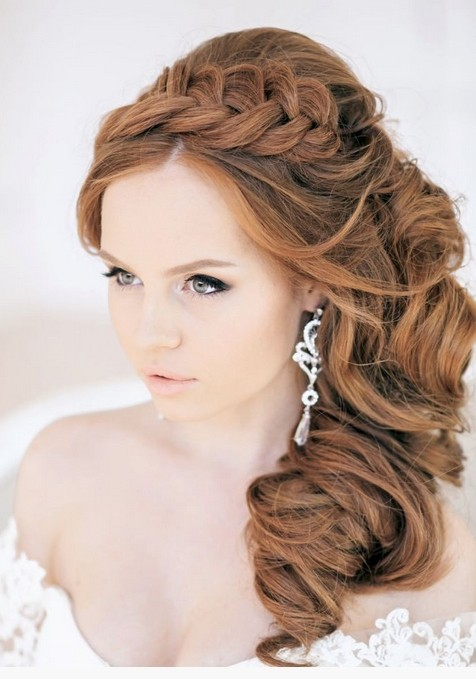 Side Hairstyles with Braid - Wedding Hairstyle Ideas 2015