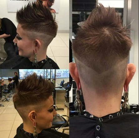 Spiked Short Hair Styles - Shaved Pixie Haircut