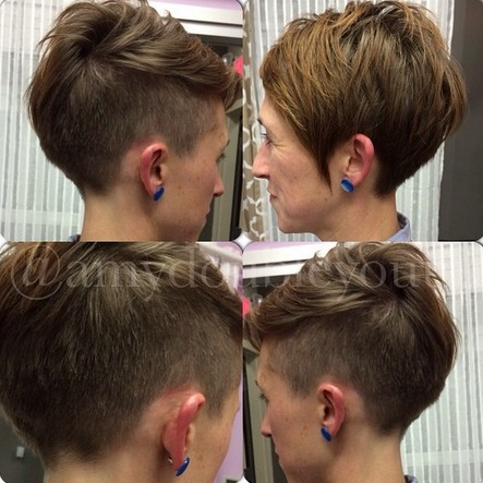 Stylish Shaved Short Haircut for Women