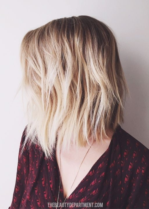 Textured Long Bob Haircut - Shoulder Length Hairstyle for Women and Girls