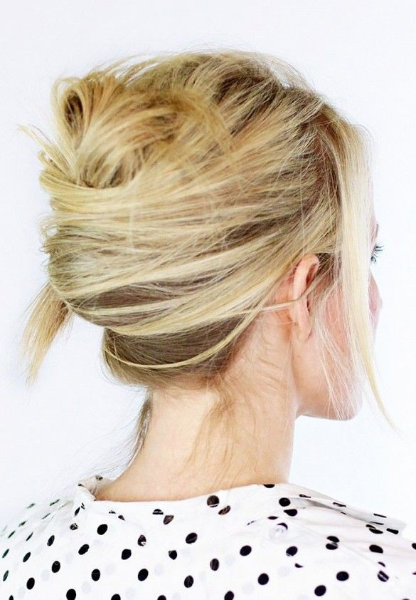 Tousled French Twist Hairstyle