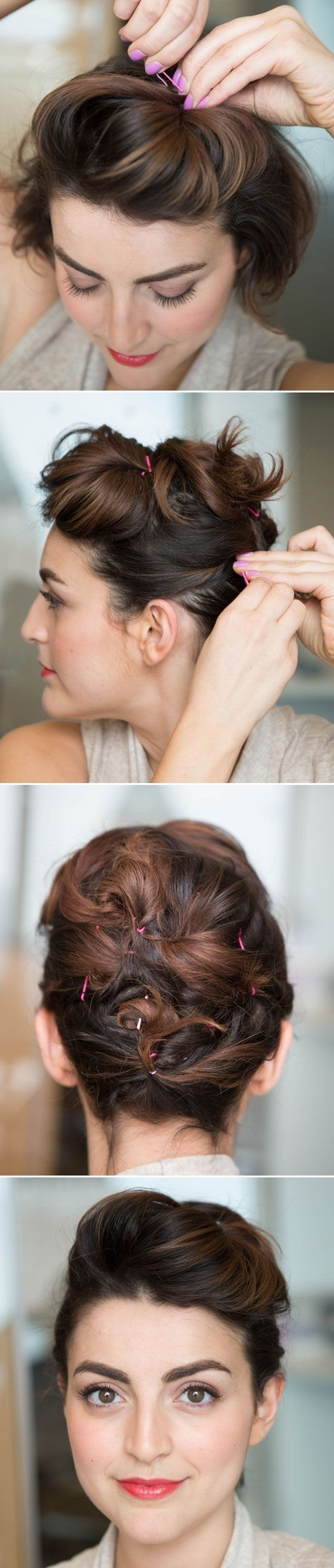 Updo Hairstyle Ideas for Short Hair