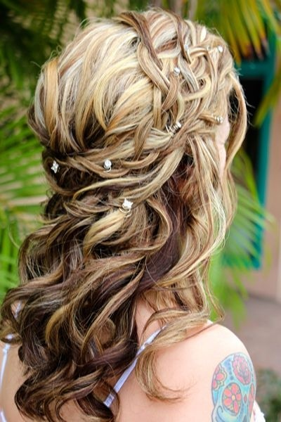 Wedding Half Up Down Hairstyles With Braid