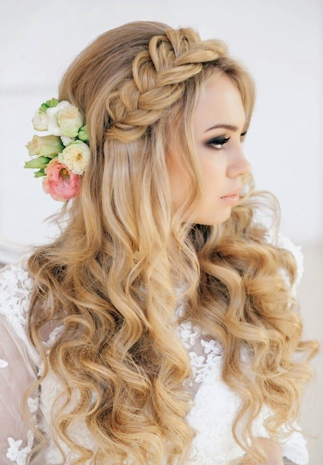 Wedding Long Hairstyle for Braid  Wedding Hairstyles 2015