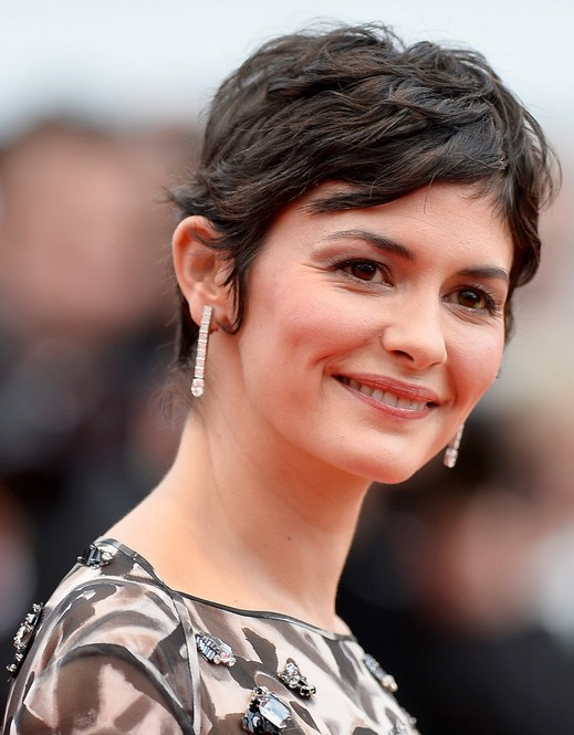 Audrey Tautou Short Haircut - Women Pixie Hairstyles for Thick Hair