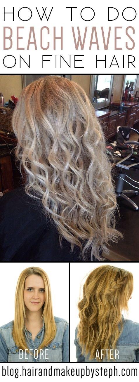 Beach Wavy Hairstyles for Fine Hair