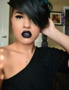 Best New Black Short Hairstyles with Side Swept Bangs