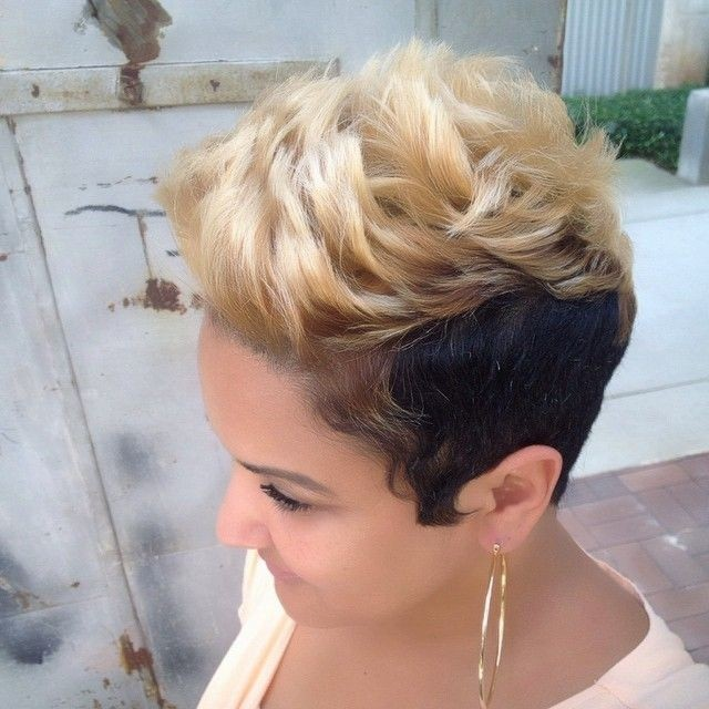 Black Blonde Hairstyle for Short Hair - Black Women Hairstyle Ideas