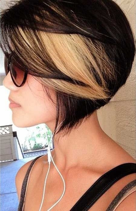 Black Blonde Ombre Bob Hairstyle for Short Hair