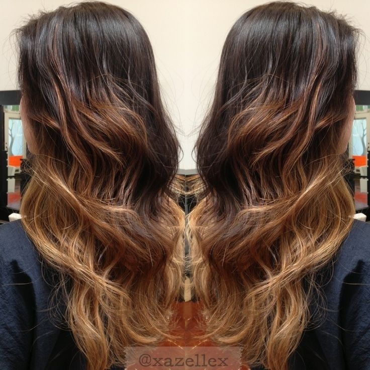 Black Blonde Ombre Hairstyle for Long Hair