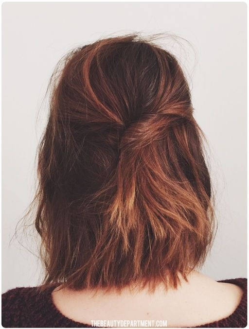 Blunt, Shoulder Length Layered Hairstyles Back View