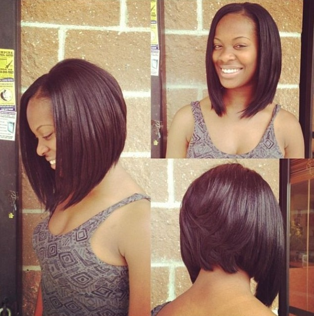 Long Hairstyles For Black Women With Bangs 104