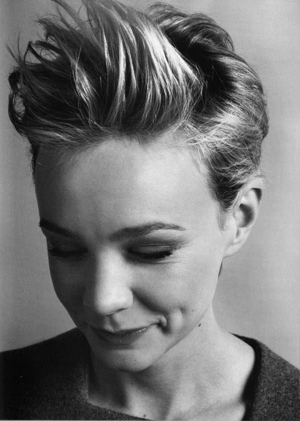 Carey Mulligan Short, Messy Spikey Haircut