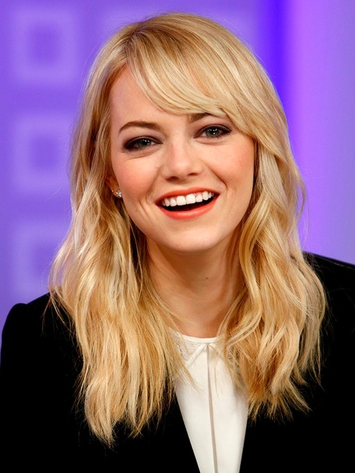 Casual, Blonde Medium Haircut - Celebrity Hairstyles
