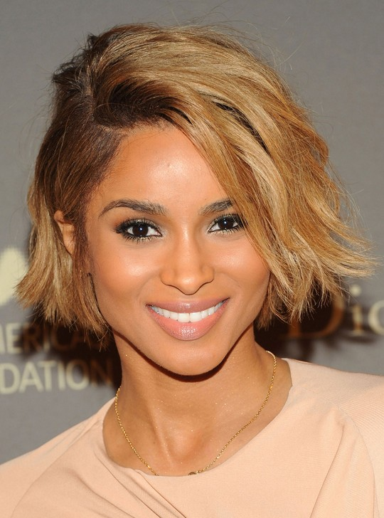 Ciara Layered Bob: Short Haircut with Side Bangs
