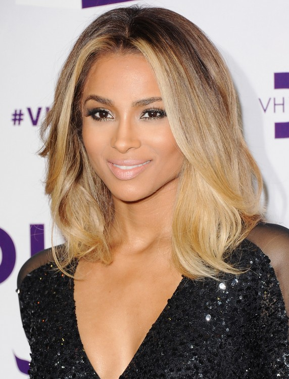 Ciara Medium Haircut: Ombre Hair