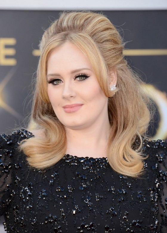 Adele Hair Style Classic Beauty On The Red Carpet